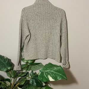 Frank & Oak Salt/Pepper Mock Neck Sweater